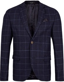 Sand Star Normal Blazer - Navy Check | Coaststore