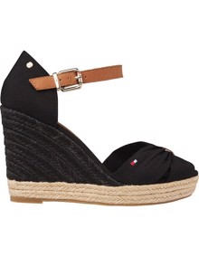 Tommy Hilfiger Basic High Wedge Sandaler - Black | Coaststore