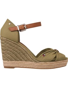 Tommy Hilfiger Basic High Wedge Sandaler - Faded Olive | Coaststore