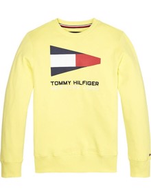 Tommy Hilfiger Sailing Flag Graphic Sweatshirt - Safety Yellow | Coaststore