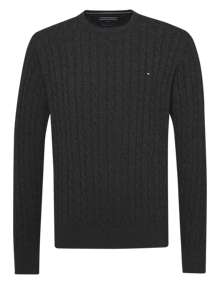 Coaststore Tommy Hilfiger Men Classic Cotton Sweater Dark Grey