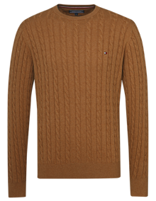 Coaststore Tommy Hilfiger Men Classic Cotton Sweater Lysebrun