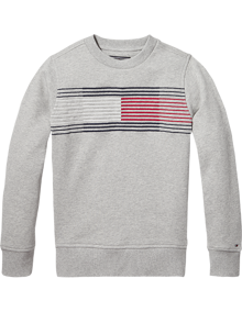 Coaststore.dk Tommy Hilfiger Kids Boys Essential Flag Sweatshirt Grå