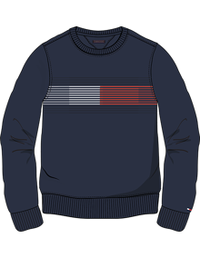 Coaststore.dk Tommy Hilfiger Kids Boys Essential Flag Sweatshirt Navy