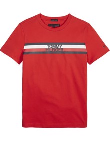 Tommy Hilfiger Kids Essential Global Stripe T-shirt | Coaststore.dk