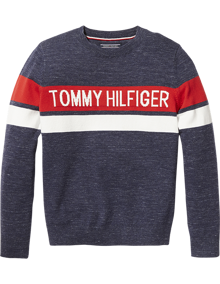 Coaststore.dk Tommy Hilfiger Kids Boys Essential Hilfiger Sweater Multifarvet