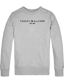 Tommy Hilfiger Essential Crewneck Sweatshirt - Light Grey Heather | Coaststore