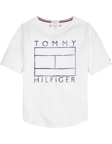 Tommy Hilfiger Essential Foil T-shirt - Bright White | Coaststore