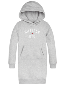 Tommy Hilfiger Essential Hættekjole - Grey Heather | Coaststore