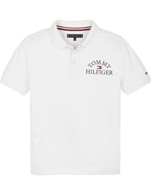 Tommy Hilfiger Essential Logo Chest Polo T-shirt - White | Coaststore