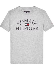 Tommy Hilfiger Essential Logo T-shirt - Light Grey Heather | Coaststore