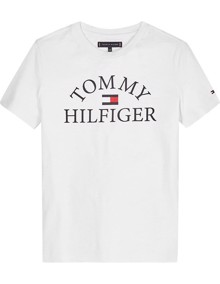 Tommy Hilfiger Essential Logo T-shirt - White | Coaststore