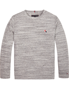 Tommy Hilfiger Essential Waffle Strik - Grey Heather | Coaststore