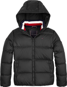 Tommy Hilfiger Essential Dunjakke - Tommy Black | Coaststore