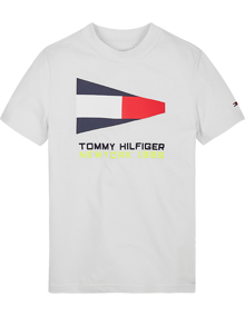 Tommy Hilfiger Flag Sailing Gear T-shirt - White | Coaststore