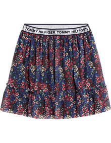 Tommy Hilfiger Floral All Over Printed Nederdel - Iris Multi | Coaststore