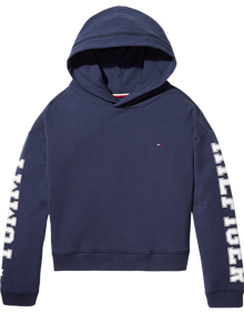 Coaststore.dk Tommy Hilfiger Kids Girls Essential Branded Hoodie Navy
