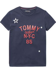 Coaststore.dk Tommy Hilfiger Kids Girls Essential Tommy NYC Tee Navy