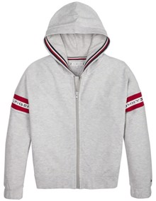 Tommy Hilfiger Kids Rib Zip Through Hættetrøje | Coaststore.dk