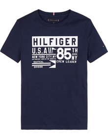 Tommy Hilfiger Reflective TH85 T-shirt - Twilight Navy | Coaststore