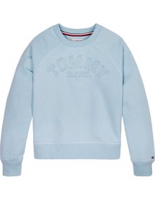 Tommy Hilfiger Tonal Embroidered Sweatshirt - Calm Blue | Coaststore