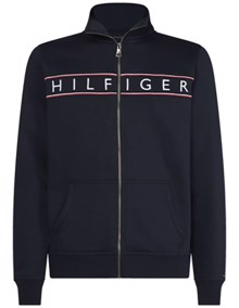 Tommy Hilfiger Logo Zip Through - Sky Captain | Coaststore.dk