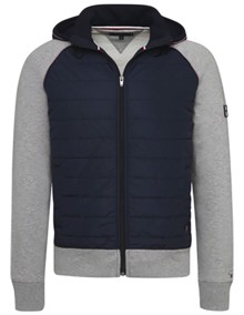 Tommy Hilfiger Mixed Media Hættetrøje - Cloud Heather | Coaststore
