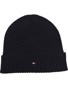 Tommy Hilfiger Pima Beanie - Sky Captain | Coaststore.dk