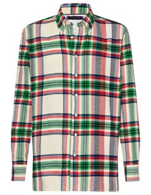Tommy Hilfiger Blown Up Check Skjorte - Lemon Icing / Jelly Bean | Coaststore.dk