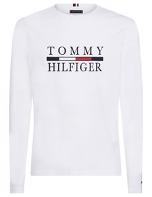 Tommy Hilfiger Long Sleeve Bluse - Bright White | Coaststore.dk
