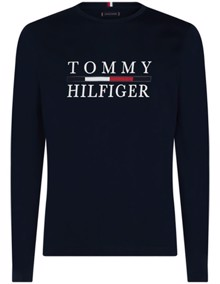 Tommy Hilfiger Long Sleeve Bluse - Sky Captain | Coaststore.dk