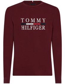 Tommy Hilfiger Long Sleeve Bluse - Tawny Port | Coaststore.dk