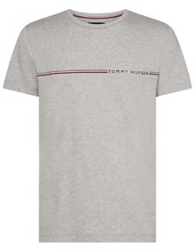 Tommy Hilfiger Stripe T-shirt - Cloud Heather | Coaststore.dk