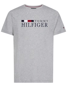 Tommy Hilfiger RWB T-shirt - Cloud Heather | Coaststore.dk
