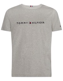 Tommy Hilfiger Core Tommy Logo T-shirt - Cloud Heather | Coaststore.dk