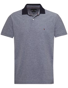 Tommy Hilfiger Under Collar Print Polo T-shirt - Martime Blue | Coaststore.dk