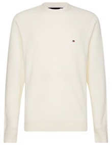 Tommy Hilfiger Zig Zag Structured Strik - Ivory | Coaststore