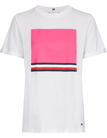 Tommy Hilfiger Brooke T-shirt - Fuchsia Red Square | Coaststore