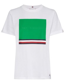 Tommy Hilfiger Brooke T-shirt - Jelly Bean Square | Coaststore