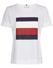 Tommy Hilfiger Cathy T-shirt - Classic White | Coaststore.dk