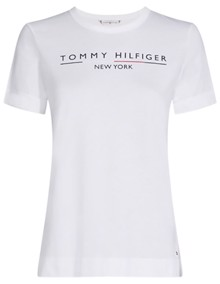 Tommy Hilfiger Christa T-shirt - Classic White | Coaststore.dk