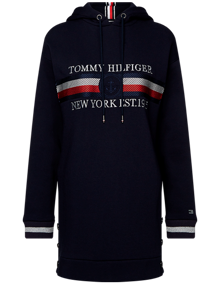 Tommy Hilfiger Icon Hooded Kjole - Desert Sky | Coaststore