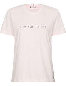 Tommy Hilfiger Tiara T-shirt - Pale Pink | Coaststore