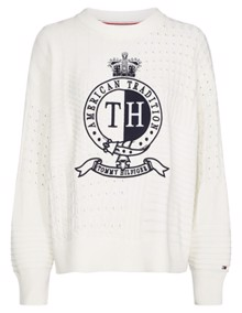 Tommy Hilfiger Valoune Sweater - Snow White | Coaststore.dk