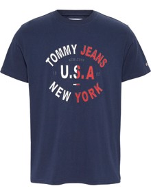 Tommy Jeans Arched Graphic T-shirt - Twilight Navy | Coaststore