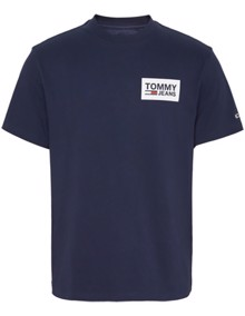 Tommy Jeans Back Multilogos T-shirt - Black Iris | Coaststore.dk