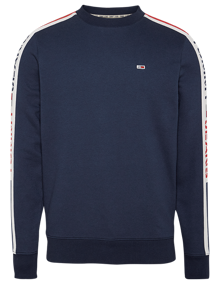 Tommy Jeans Branded Tape Sweatshirt - Twilight Navy | Coaststore