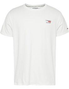 Tommy Jeans Chest Logo T-shirt - Classic White | Coaststore