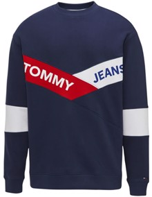 Tommy Jeans Chevron Crewneck Sweater | Coaststore.dk