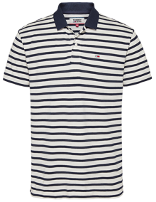 Tommy Jeans Classics Stripe Polo T-shirt - Twilight Navy Stripe | Coaststore
